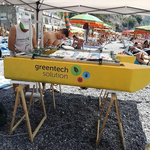 Green Tech Solution, a caccia di plastica nelle meravigliose acque di Positano /Foto /Video